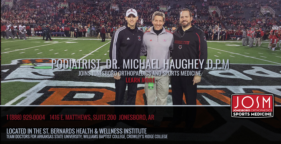 Michael Haughey joines Jonesboro Orthopaedics and Sports Medicine.